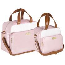 Kit Bolsa Bebê Rosa Candy Plike Baby FXBRS -