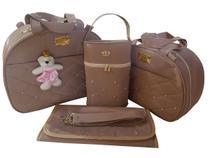 kit bolsa de bebe saída de maternidade rose redonda menina 4pçs - Clara Baby