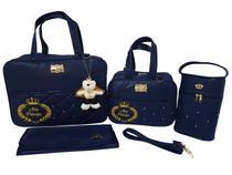 kit bolsa mala de bebe para maternidade azul - Clara Baby