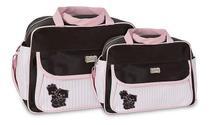 Kit Bolsa Mala Maternidade Bebê Menina Menino Atacado Mave Rosa Com Vinho - Mave Baby