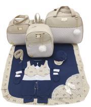 Kit bolsa maternidade 3 peças luxo bege + saida maternidade - Let Baby Bolsas De Maternidade