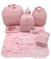 Kit bolsa maternidade 5 p estrela rosa + saida maternidade - Let Baby Bolsas De Maternidade