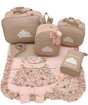 Kit bolsa maternidade 5 p nuvem nude + saida maternidade - Let Baby Bolsas De Maternidade