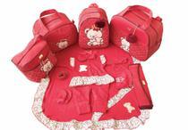 Kit Bolsa Maternidade 5 Peças Completo Ursa Coração Térmica Vermelha Com Saída Maternidade - Elyã Baby