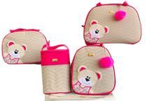 Kit Bolsa Maternidade 5 Peças Completo Ursa Orelhinha Térmica Pink - Elyã Baby