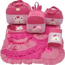 Kit bolsa maternidade 5 peças urso s pink + saída maternidade - Let Baby Bolsas De Maternidade