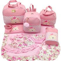 Kit bolsa maternidade 5 peças urso s rosa + saída maternidade - Let Baby Bolsas De Maternidade
