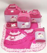 Kit bolsa maternidade 5 peças urso s + saída maternidade - Let Baby Bolsas De Maternidade