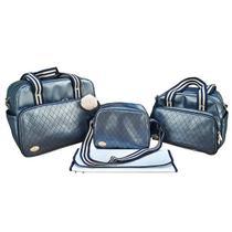 Kit Bolsa Maternidade Azul Marinho Premium IB - ARTE E CIA