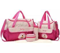 Kit Bolsa Maternidade Bebê Menino E Menina 5 Pecas Super Luxo - Baby