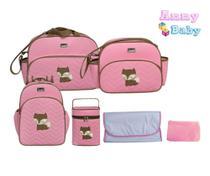 Kit Bolsa Maternidade Completo C/ Mochila P Raposinha Raposa - Lilian Baby