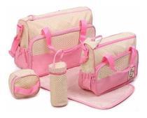 Kit Bolsa Maternidade Importada Bebe 5 Pecas Varias Cores - ILoveNovidades