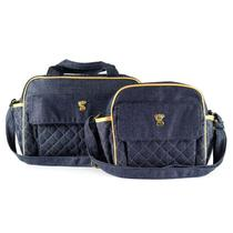 Kit Bolsa Maternidade Jeans Bordado - Classic for Baby - Classic for baby bags