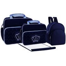 kit Bolsa maternidade marinho com mochila e trocador - Mave