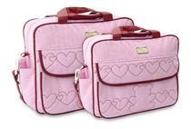 Kit Bolsa Maternidade Mave Baby Bebê Menina Menino Atacado Rosa -