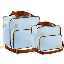 Kit Bolsa Maternidade Plike Baby Azul Claro KB-CRM2 -
