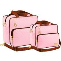 Kit Bolsa Maternidade Plike Baby Rosa KB-CRM2 -