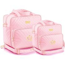 Kit Bolsa Maternidade Plike Baby Rosa PK72 -