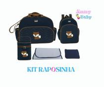 Kit Bolsa Maternidade Raposinha Luxo Menino Menina - Lilian baby