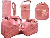 Kit Bolsa Maternidade rosa luk - Mk Baby
