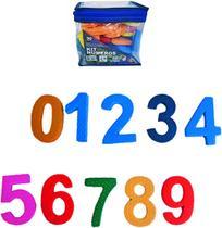 Kit Bolsa Numeros De Eva Com 3 Jogos Didaticos Colors Com 30 - Oem
