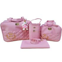 Kit Bolsa Saída Maternidade Rosa - Mk Baby
