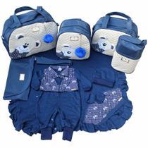 Kit Bolsas de Maternidade 5 Peças Saída Azul Marinho - Império Dos Bebès