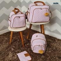 Kit Bolsas de Maternidade Menina e Menino Luxo Super Premium Material Alto Padrão Térmico Impermeável - Milori Baby
