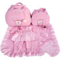 Kit Bolsas Maternidade 2pcs e Saída Rosa macacão Urso Menina - Império dos Bebès