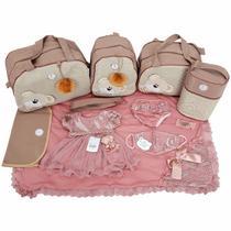 Kit Bolsas Maternidade 5 Peças Saída Premium Nude Vestido - Império Dos Bebès
