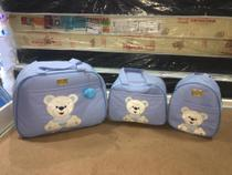 Kit bolsas maternidade térmicas 3pçs (Azul bebê) - Layne Baby