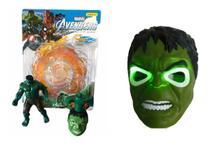Kit Boneco E Pião Musical Com Led Avengers Herói Incrivel Hulk - Vingadores