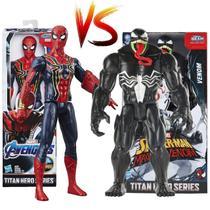 Kit Boneco Homem Aranha vs. Venom Titan Hero 30cm - Hasbro -