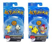 Kit Boneco Pokémon: Pikachu + Meowth + Hoopa + Pancham - Tomy -