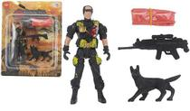 Kit boneco soldado missão resgate w-force - 4 peças - Wellmix