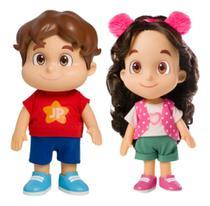 Kit Bonecos Maria Clara & João Pedro Jp Youtubers ( 26 cm articulados )  Baby Brink -