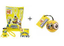 Kit Bonecos Minions Mineez Clip On Surprise + Surprise Ball - Dtc