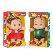 Kit bonecos monica e cebolinha turma da monica iti malia baby brink - Babybrink