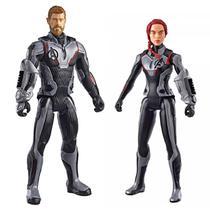 Kit Bonecos Thor e Viúva Negra Vingadores Ultimato Titan Hero Series - Hasbro -