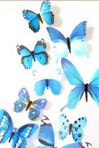 Kit borboleta colorida adesiva azul - Import