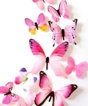 Kit borboleta colorida adesiva rosa - Import