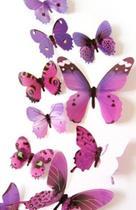 Kit borboleta colorida adesiva roxa - Import