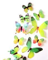 Kit borboleta colorida adesiva verde - Import