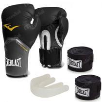 a75086473 Kit Boxe com Luva pro Style 12 Oz Preta + Protetor Bucal + 2 Bandagens