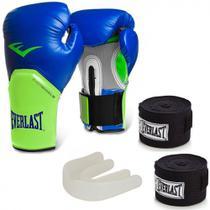 Kit Boxe  com Luva pro Style 14 Oz + Protetor Bucal + 2 Bandagens - Everlast