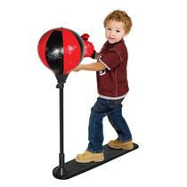 Kit Boxe Com Suporte Luva + Saco De Pancada Infantil Dm Toys -