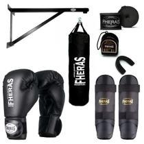 Kit Boxe Muay Thai com Suporte e Saco de Pancadas 100x100 cm - Fheras