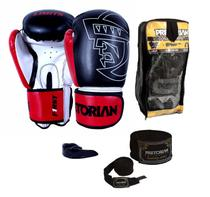 Kit Boxe Muay Thai First No Fucking Limits Luva Bandagem Bucal Pretorian -