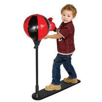 KIT Boxe saco de pancada infantil Par De Luva Ajustavel  + Bomba - Dm Toys
