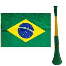 Kit Brasil Bandeira +Corneta - Nfranca